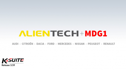Bosch MDG1 ECUs supported by Ktag Ksuite Alientech